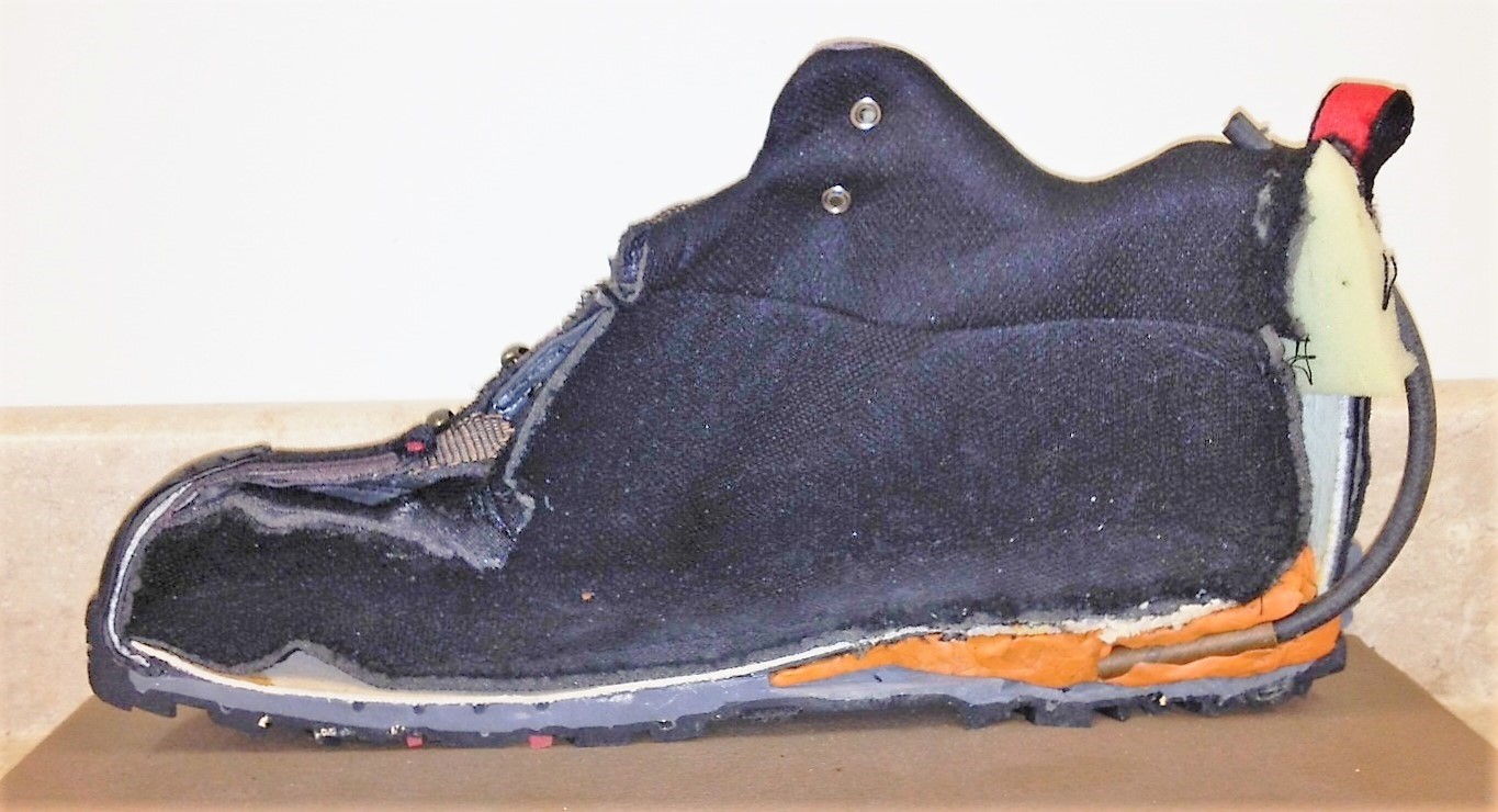 This is a replica of the 2001 bomb concealed in a terrorist's shoe. (TSA photo)