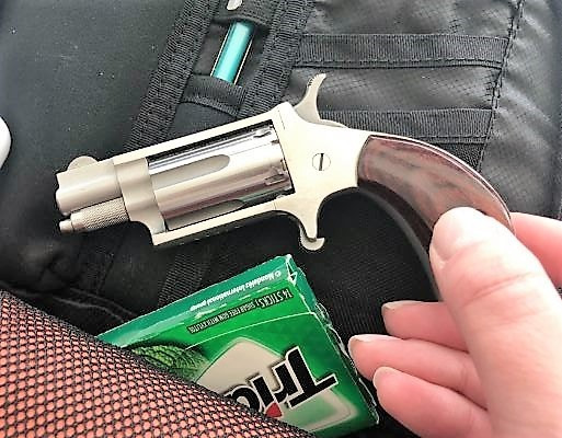 TSA officers at Newark Liberty International Airport detected this .22 caliber loaded handgun in a traveler's carry-on bag on Monday, February18, the second gun detected at the airport on Monday. (TSA photo)