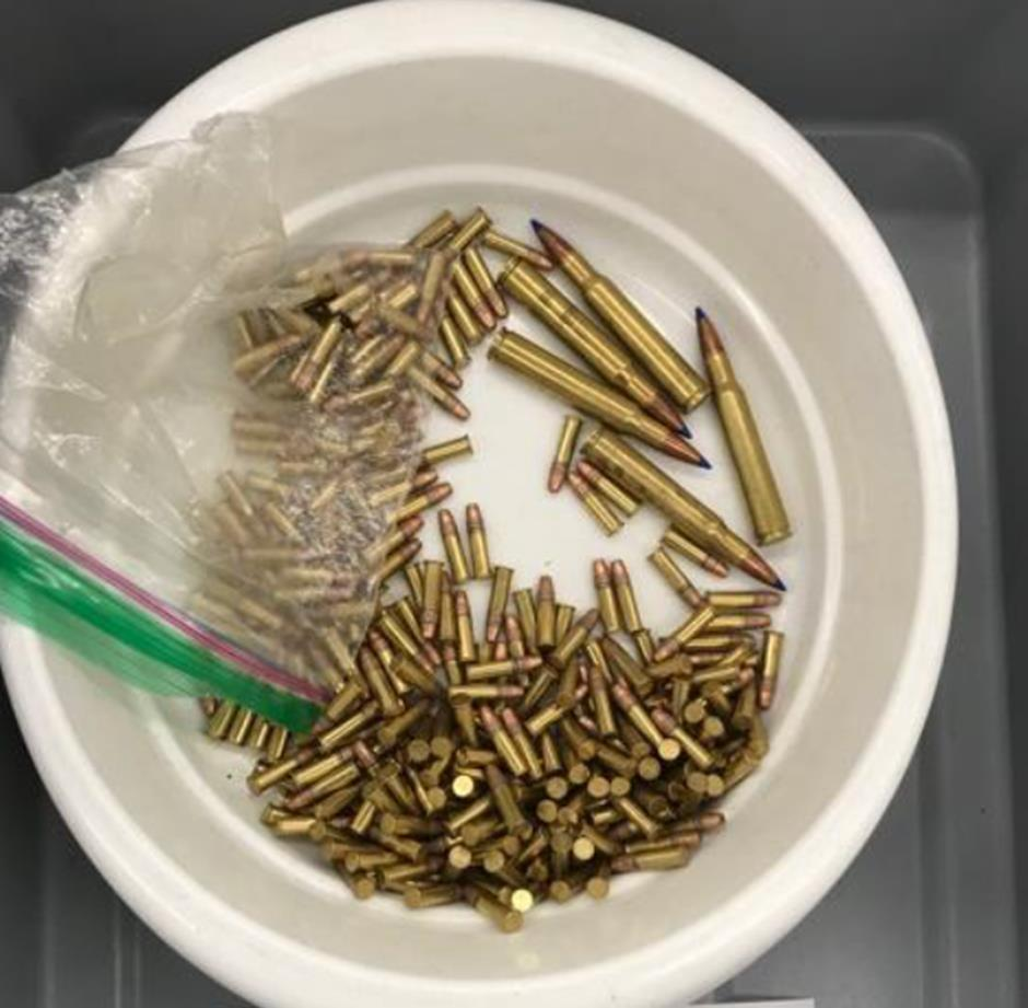 The ammunition pictured here was discovered in a carry-on bag at the Kodiak Airport (ADK).