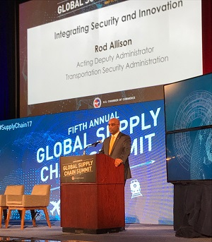 Acting deputy administrator addresses annual U.S. Chamber of Commerce Global Supply Chain Summit