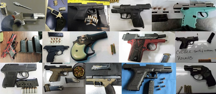 TSA discovered 80 firearms in carry-on bags around the nation last week. Of the 80 firearms discovered, 71 were loaded and 25 had a round chambered.