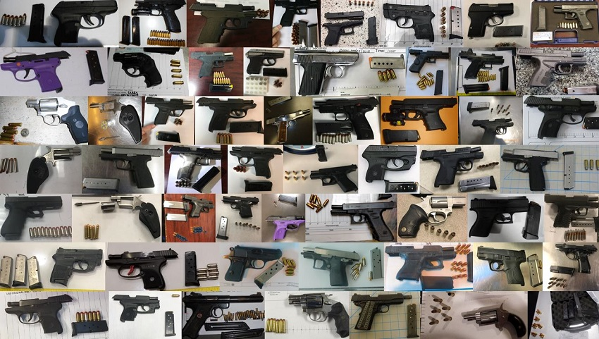 TSA discovered 269 firearms in carry-on bags around the nation from June 25th through July 15th. Of the 269 firearms discovered, 235 were loaded and 85 had a round chambered.