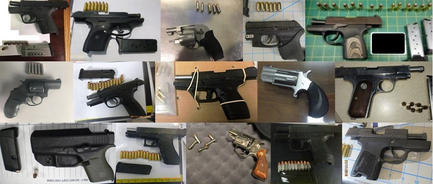 TSA discovered 66 firearms over the last week in carry-on bags around the nation. Of the 66 firearms discovered, 56 were loaded and 25 had a round chambered.