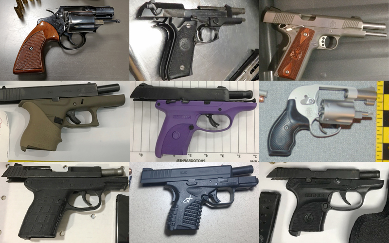 Firearms discovered at TSA checkpoints