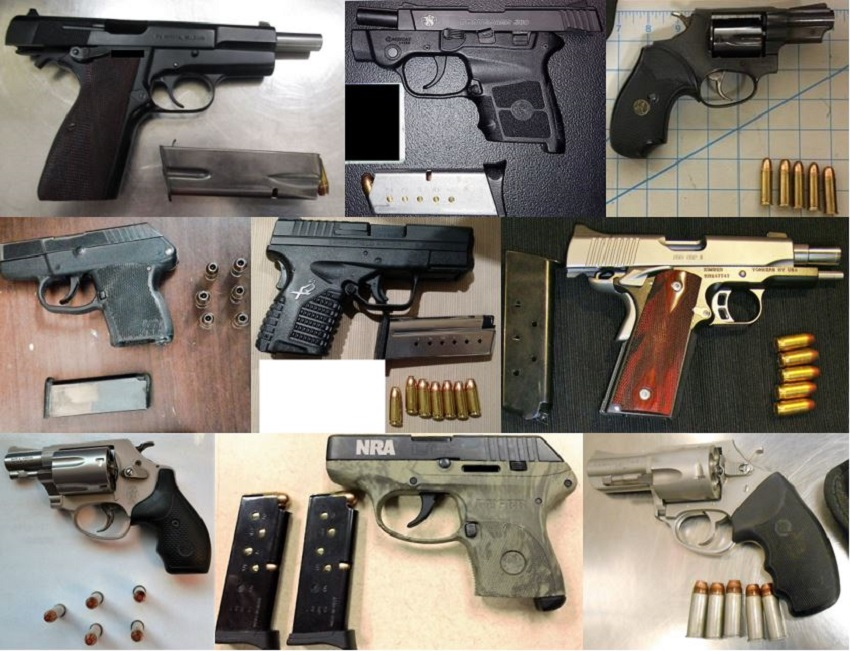 TSA discovered 84 firearms over the last week in carry-on bags around the nation. Of the 84 firearms discovered, 69 were loaded and 15 had a round chambered.