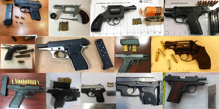 TSA discovered 92 firearms in carry-on bags around the nation from June 18th through the 24th. Of the 92 firearms discovered, 80 were loaded and 29 had a round chambered.