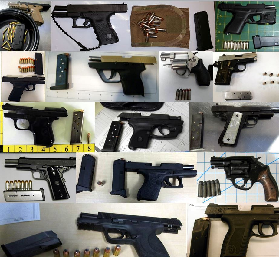 Discovered 53 firearms