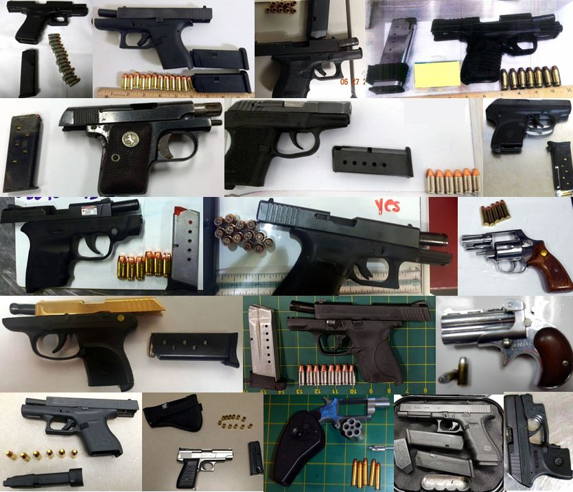 Discovered 74 firearms image