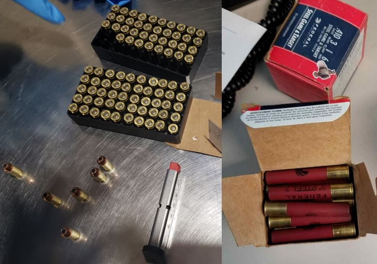 The ammunition pictured here was discovered in carry-on bags at the Nashville International Airport (BNA).