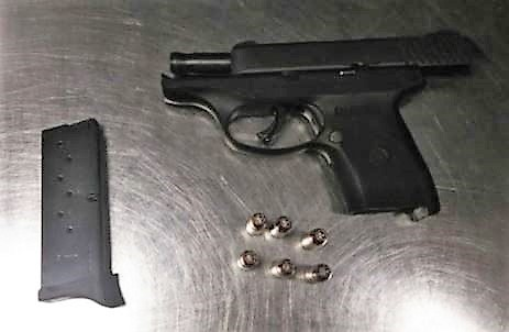 This loaded handgun and additional clip were spotted in the carry-on bag of a New Hampshire resident at a Boston Logan International Airport checkpoint on Sunday.