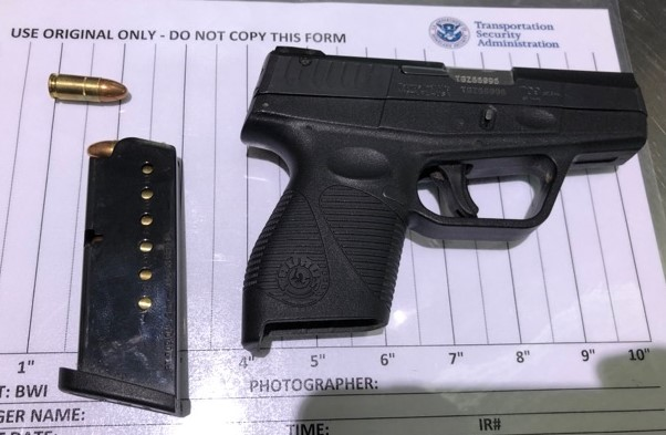 BWI detected this handgun in a traveler's carry-on bag