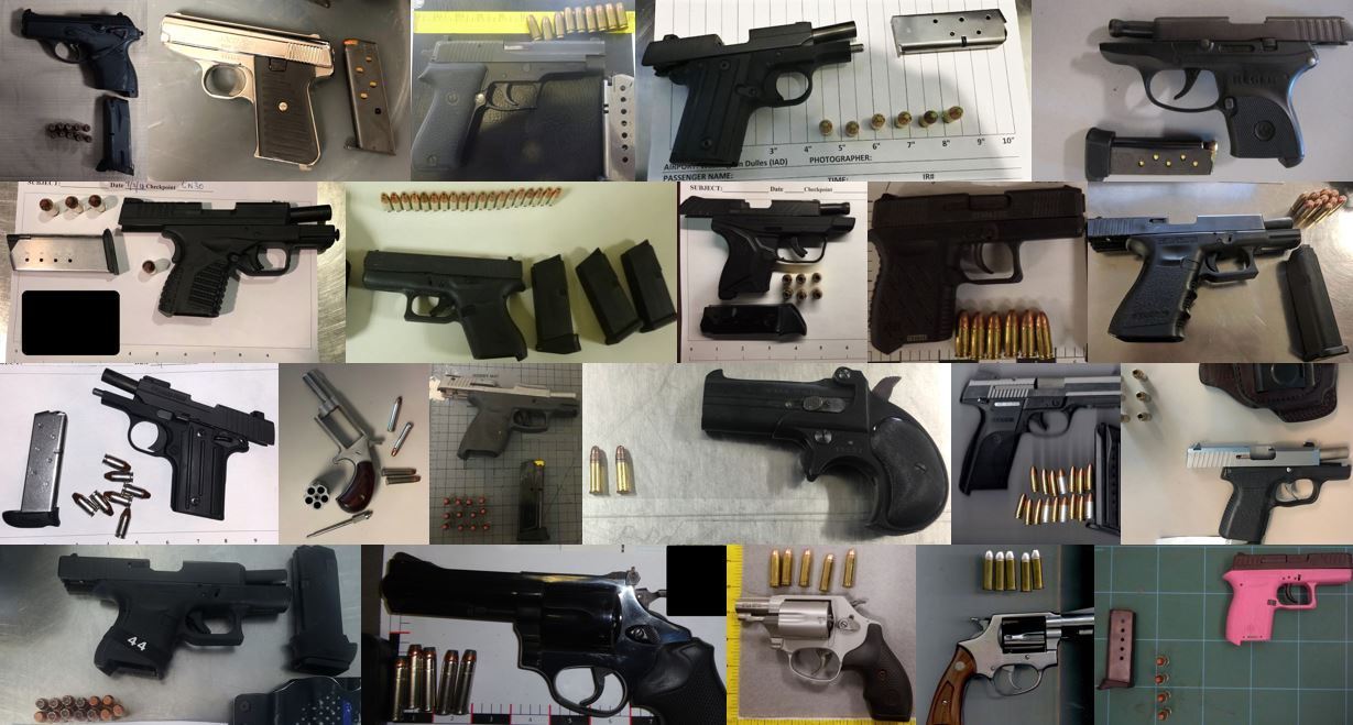 TSA discovered 147 firearms in carry-on bags around the nation from September 3rd through the 27th. Of the 141 firearms discovered, 132 were loaded and 50 had a round chambered. Firearm possession laws vary by state and locality.