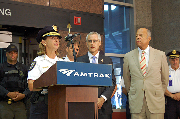 Amtrak Chief of Police Polly Hanson describes the rail security partnership with TSA, DHS and local police agencies.