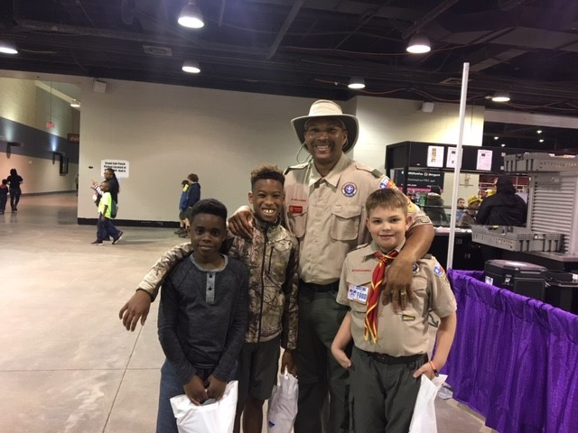 Freeman and scouts
