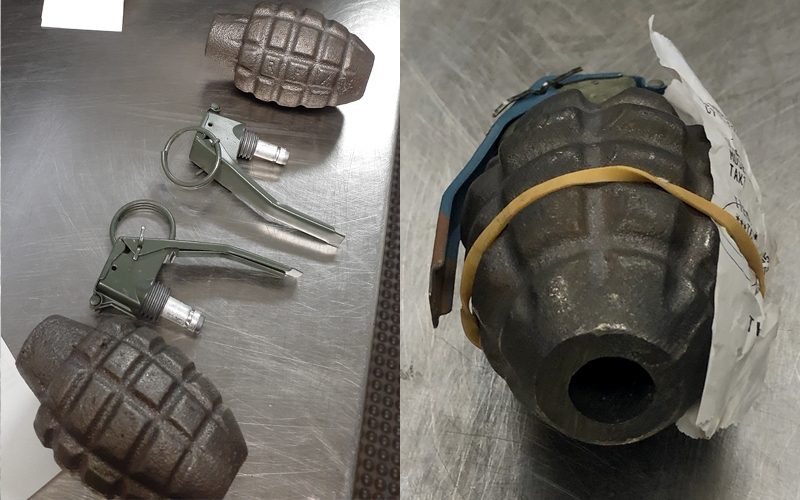 Two incidents involving grenades at checkpoints