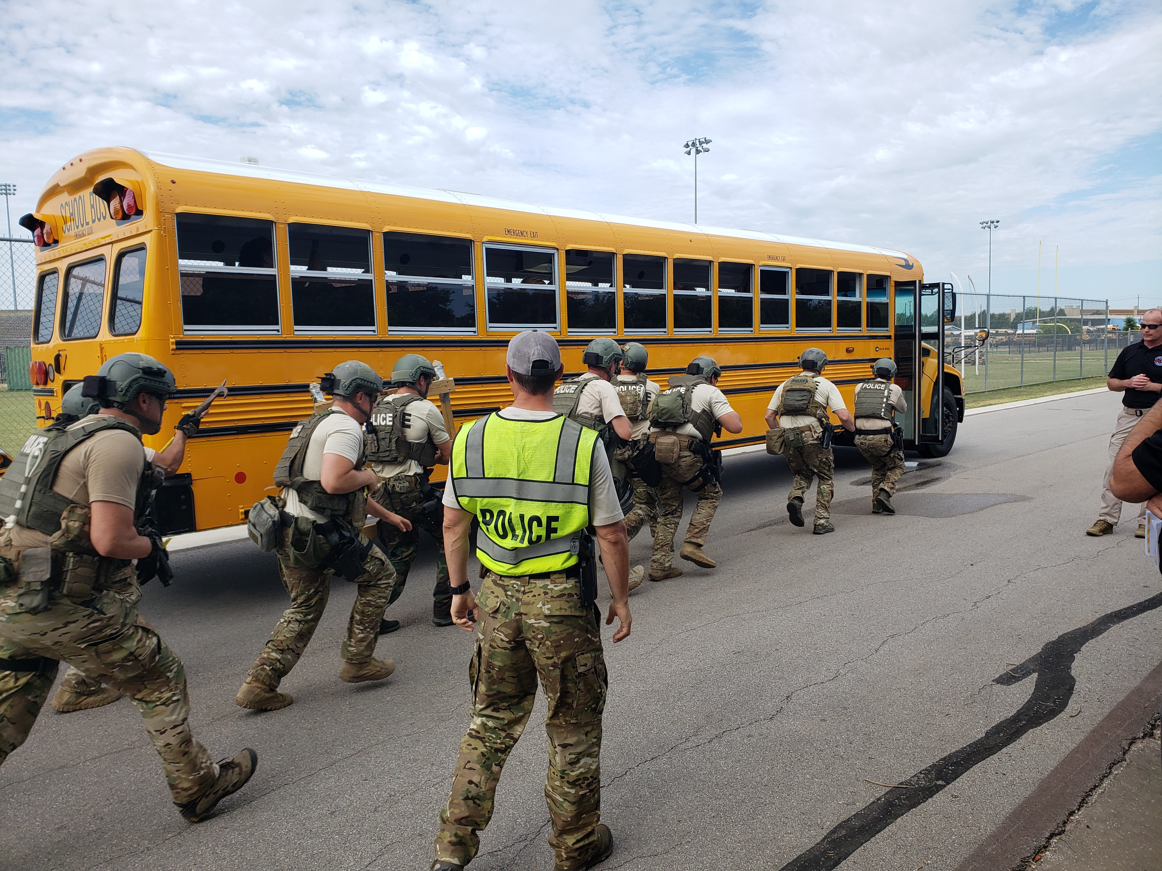 TSA participates in school bus hijacking drill in Texas