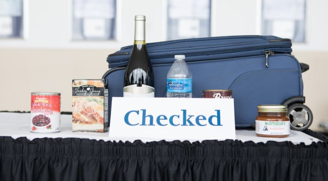 Items that should be placed in checked baggage