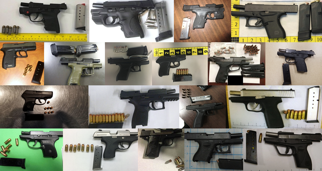 TSA discovered 97 firearms in carry-on bags around the nation from June 11th through the 17th. Of the 97 firearms discovered, 85 were loaded and 26 had a round chambered.
