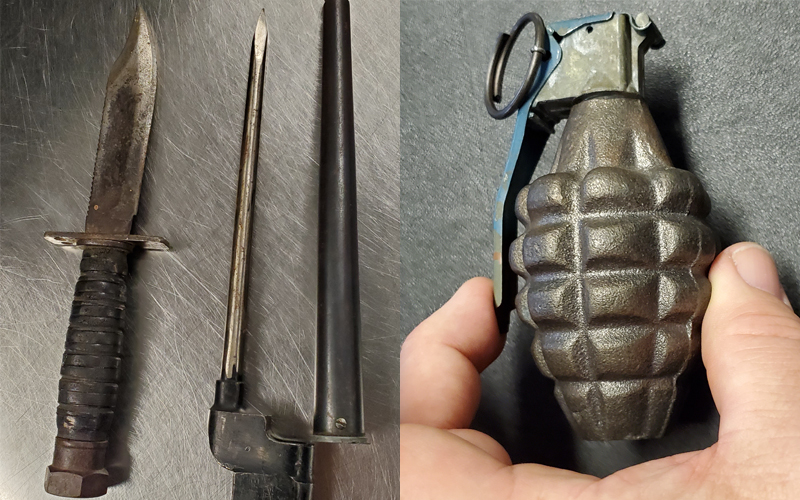 Bayonet and Grenade
