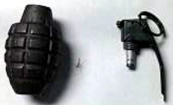 Discovered inert grenade