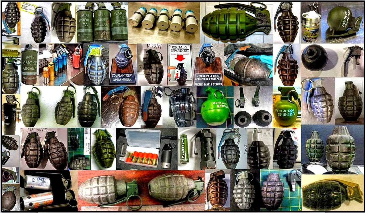 Over 140 inert/novelty hand grenades were discovered last year in both checked and carry-on bags.