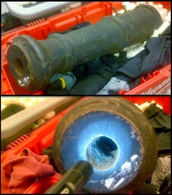 An unloaded cannon barrel was discovered with a passenger's checked items at the Kahului Airport (OGG).