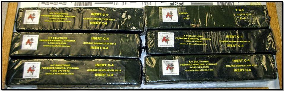 Six blocks of inert C-4 were discovered in a checked bag at Tampa (TPA).