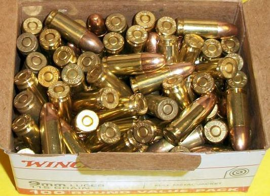 A box of ammunition