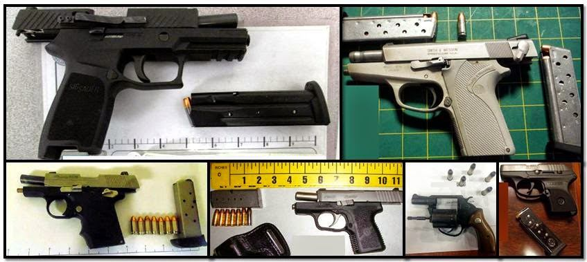 Firearms discovered in carry-on bags at: RNO, LAS, STL, ATL, JAX & HRL