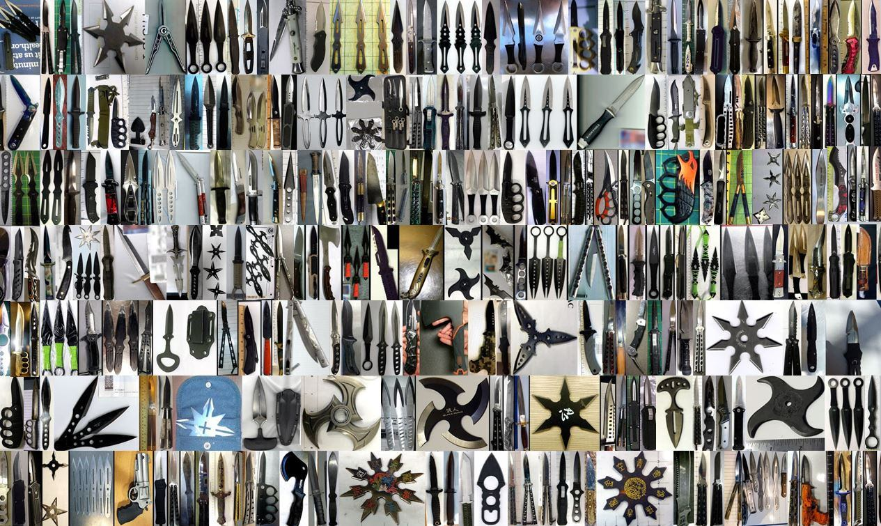 Discovered thousands upon thousands of sharp items in carry-on bags