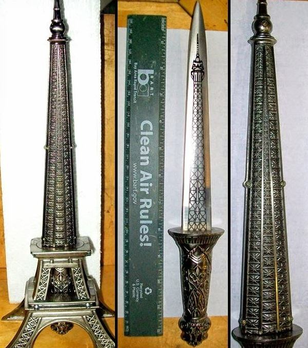 Discovered an 8-inch double-edged knife, which was concealed and detected in a replica statue of the Eiffel Tower in a carry-on bag
