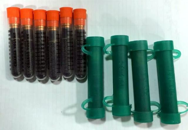 Discovered ten tubes of black powder in a checked bag