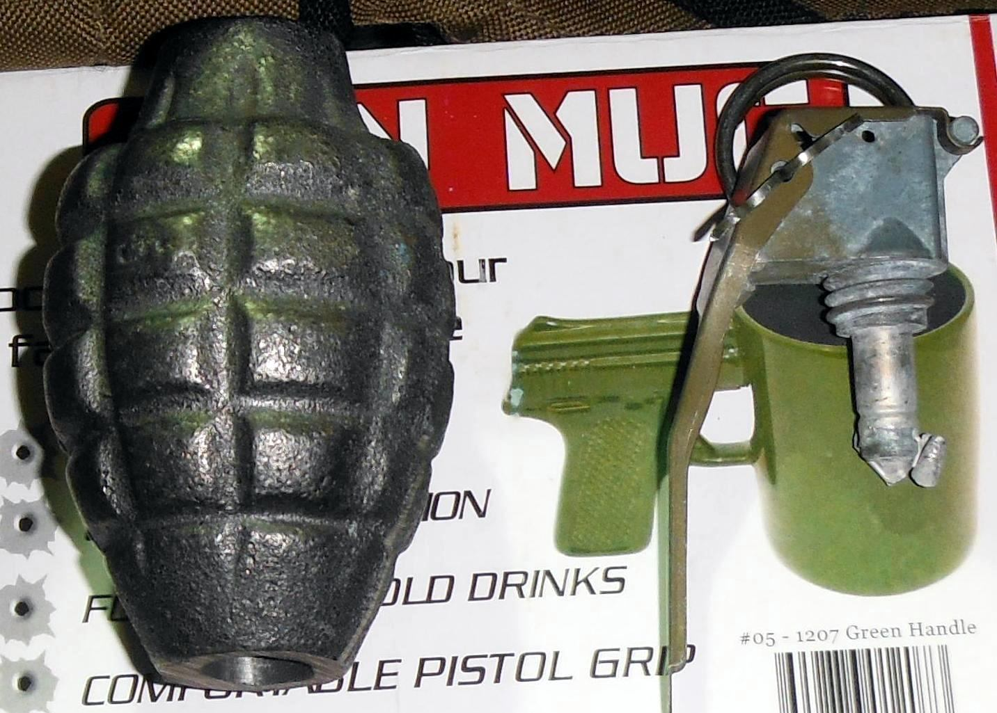 Inert grenade was discovered in a checked bag at Las Vegas (LAS).