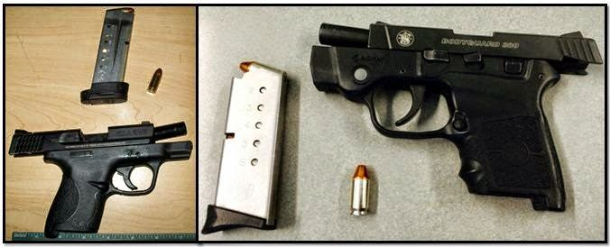Left - Right, Firearms Discovered in Carry-on Bags at OAK and IND