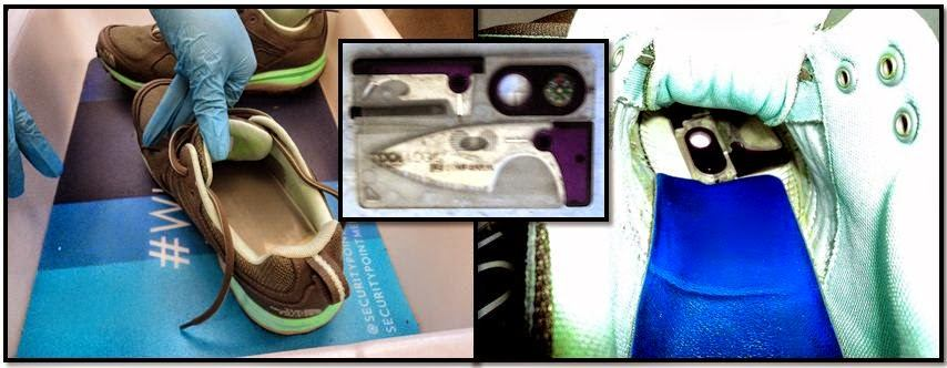 A knife was detected in the sole of a shoe at Los Angeles (LAX).