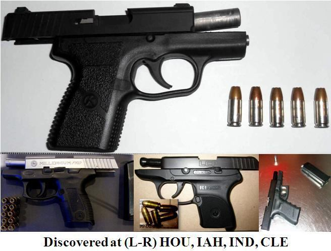 Four loaded firearms discovered at HOU, IAH, IND, CLE