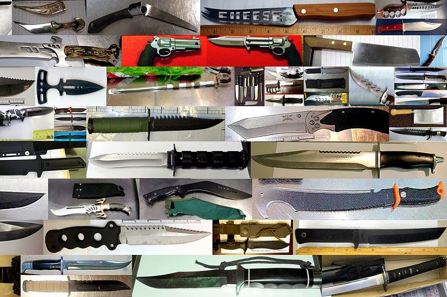 Some of The Knives and Swords Discovered in 2013