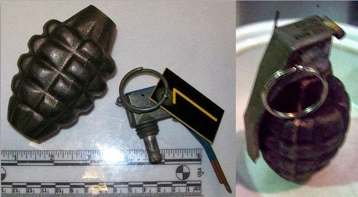 Grenades Discovered at (L-R) BWI and MCI