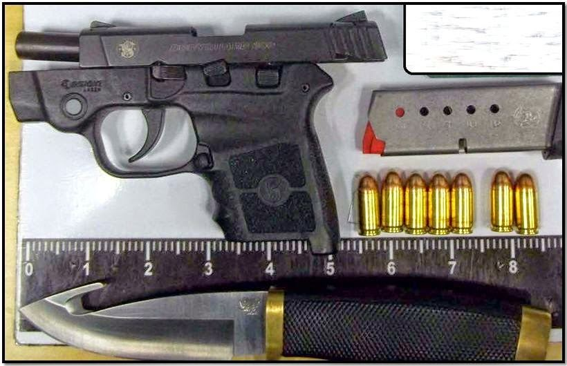 Loaded firearm and gut knife discovered in carry-on bag at CLT.