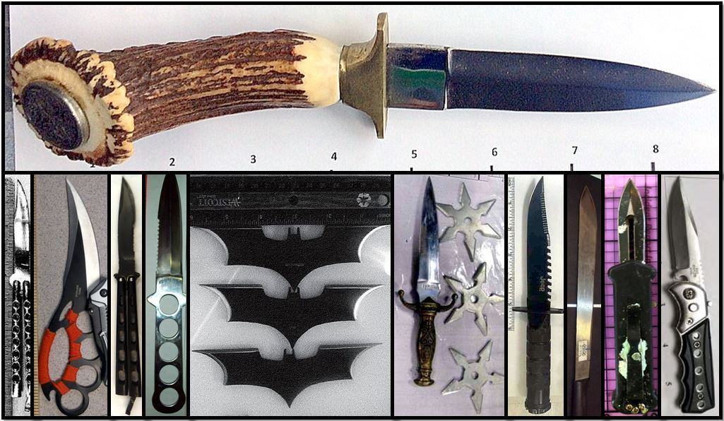 Counterclockwise from top, the items pictured above were discovered at BDL, DEN, IWA, RIC, MCI, BUF, SLC, LAX, IAH, SMF and SFO.