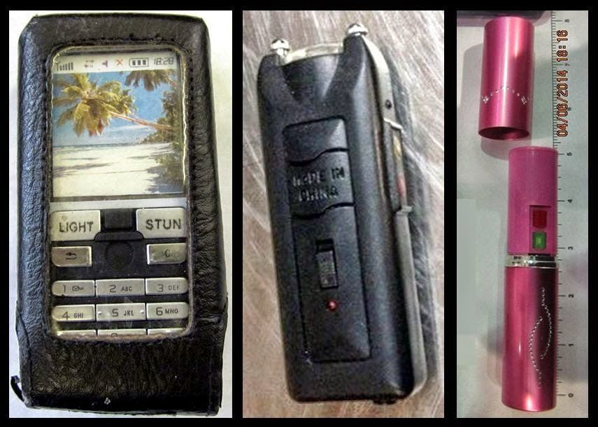 Stun Guns Discovered at (L-R) OMA, STT, DTW