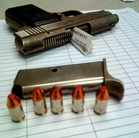 Loaded Gun Discovered at (MIA)