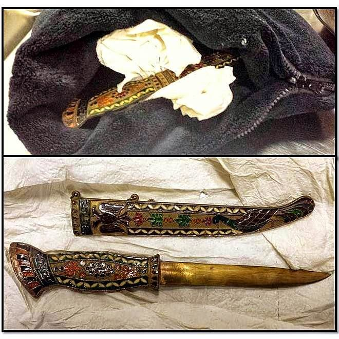 Knife discovered inside a neck pillow at PHL.