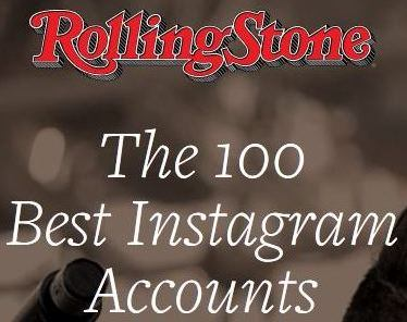 Rolling stone banner.