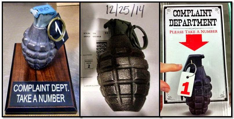 From left, inert grenades discovered at: DAL, MSY & MDW