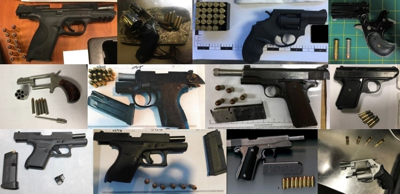 TSA discovered 62 firearms in carry-on bags around the nation last week. Of the 62 firearms discovered, 55 were loaded and 20 had a round chambered.