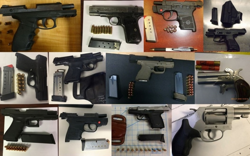 TSA discovered 83 firearms in carry-on bags around the nation last week. Of the 83 firearms discovered, 65 were loaded and 28 had a round chambered.