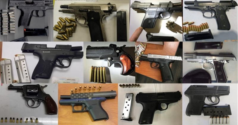TSA discovered 79 firearms in carry-on bags around the nation last week. Of the 79 firearms discovered, 70 were loaded and 31 had a round chambered.