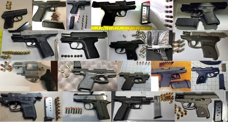 TSA discovered 90 firearms in carry-on bags around the nation last week. Of the 90 firearms discovered, 73 were loaded and 35 had a round chambered.