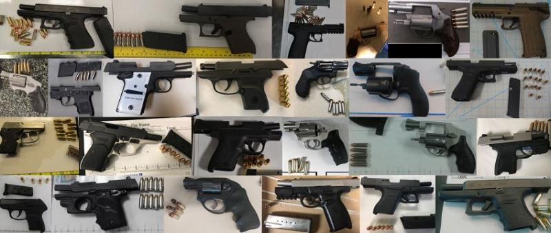 TSA discovered 177 firearms in carry-on bags around the nation from September 10th through the 23rd. Of the 177 firearms discovered, 158 were loaded and 52 had a round chambered.